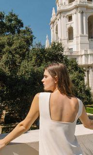 OSN Square Back Midi Dress (Cream)