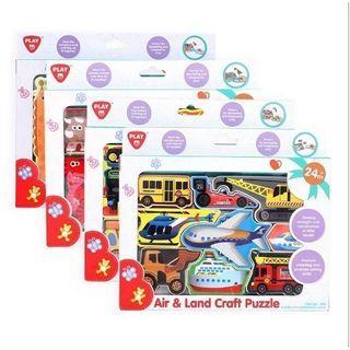 Play Wooden Puzzle Animal/Dino Puzzle/Mainan Edukasi Anak