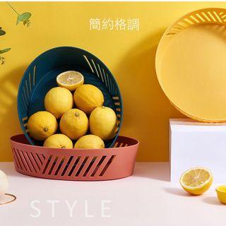 簡約PP創意水果盤 零售糖果盤 水果籃 水果盤 瀝水蔬菜藍