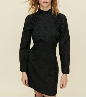 Sangria black dress by little moon from aritzia