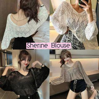 Sherine blouse import blouse renda batwing blouse brukat import