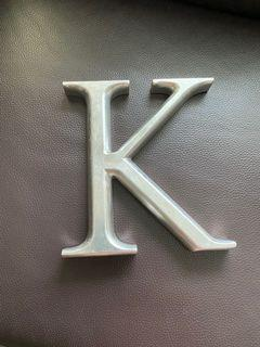 """Simple home decor. The letter """"k"""""""
