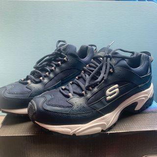 skechers sport 134 s牌布鞋 慢跑鞋 運動鞋  深藍色