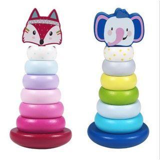 Stacking Balancing Toys/Fox Stacking Toys/Elephant Stacking Toys/Mainan Edukasi Anak