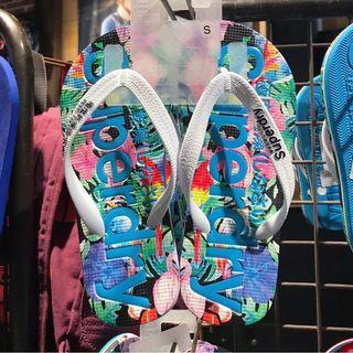 英國購Superdry沙灘拖鞋 S 35-37碼