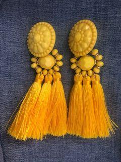 Tassel Yellow Earrings