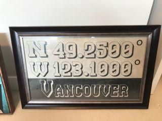 Vancouver artwork and frame