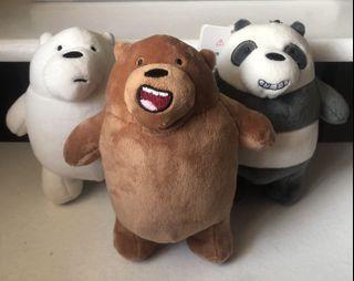 We Bare Bears Stuff Toy Keychain