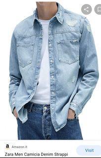 Zara Light Blue Denim Jacket