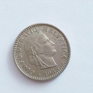1985年瑞士法郎硬幣 Swiss coin