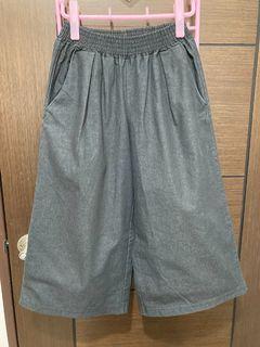 深灰牛仔寬褲