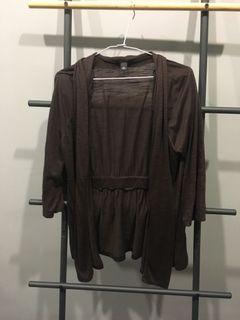 氣質深棕薄罩衫
