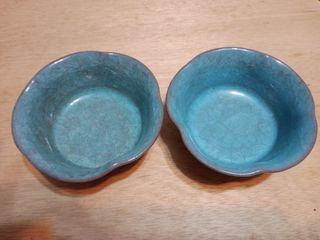 荷花冰晶陶碗