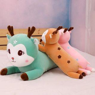 可愛梅花鹿長抱枕。