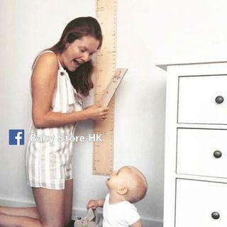 🌟快閃🌟 淺木色量高牆貼 出囗歐洲 仿砌圖款薄款木質  小童至成人量身高尺 (40~185cm)