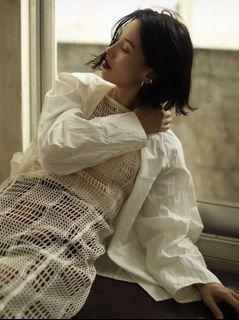 日本小眾設計品牌🐝無領造型西裝外套 白色輕鬆休閒外套、罩衫 Beams KBF Groovy