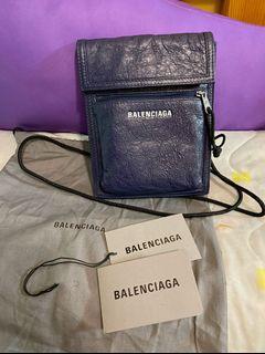 全新 Balenciaga Explore Navy Pouch Bag 經典 arena 小手袋