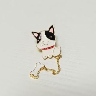 🐕 Cute Dog & Bone Pins 可愛小狗 骨頭 襟針
