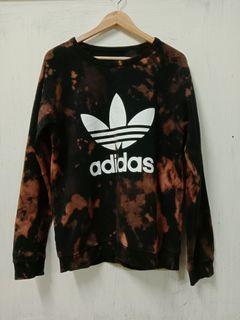 Adidas Trefoil Crew  Sweatshirt Tie Dye