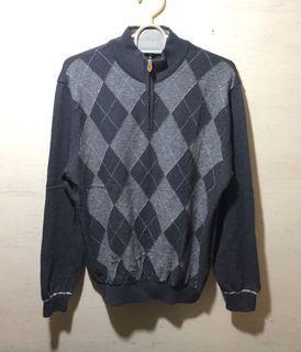 Argyle Half Zip Sweater/ Motif Ketupat