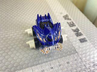 Blue spikey mini car