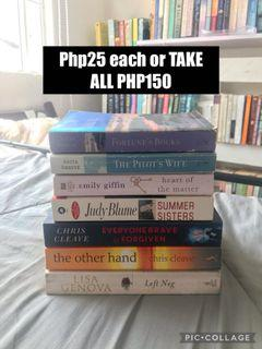 Books at Php25 each