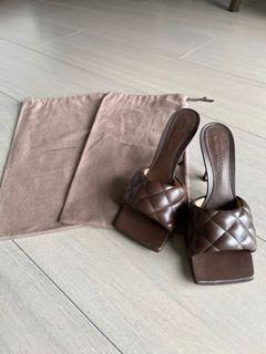 BOTTEGA VENETA 。BV編織高跟拖鞋。沒穿過。全新。😅