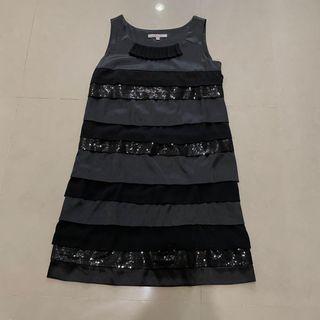 Cocoon 專櫃購入 亮片無袖緞面洋裝