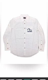Evisu 男裝白色長袖恤衫 全新開袋未著過 M碼 中碼 原價$700