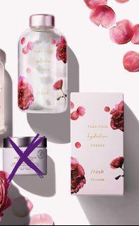 Fresh 全新 限量版 玫瑰花玻璃水瓶