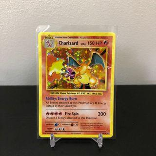 Great centering Pokemon TCG Charizard XY Evolutions 2016 Holo rare card foil gold base trading display piece item holo bleed