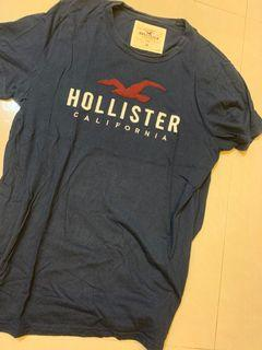 Hollister真品log0短T..送手環
