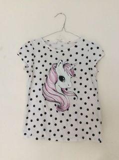 kaos h&m unicorn anak