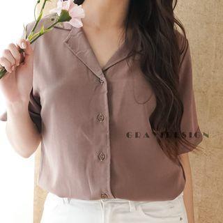 Kemeja Oversize Casual Formal  Coklat Brown Trendy