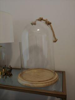 Large Glass Cloche Dome with Base