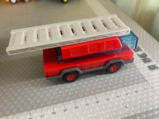 Lego style toy fire truck
