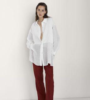 Massimo Dutti 頂級亞麻Oversize襯衫 studiodoe 、葒推薦 葡萄牙製