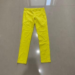 Net yellow legging pants 霓虹黃色緊身內搭長褲