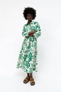 New !! ZARA Printed Poplin Dress