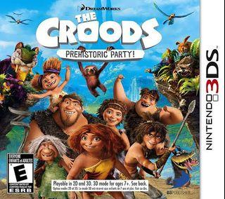 Nintendo 3DS Game Card Cartridge The Croods Prehistoric Party Reg USA