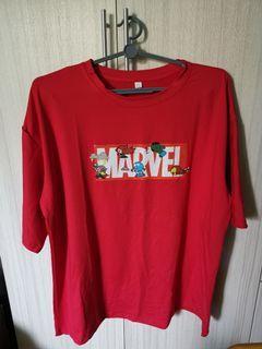 Red Marvel T Shirt