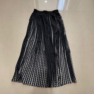 SO NICE polka dot skirt 點點百褶長裙