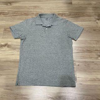 Uniqlo grey polo shirt 灰色polo衫