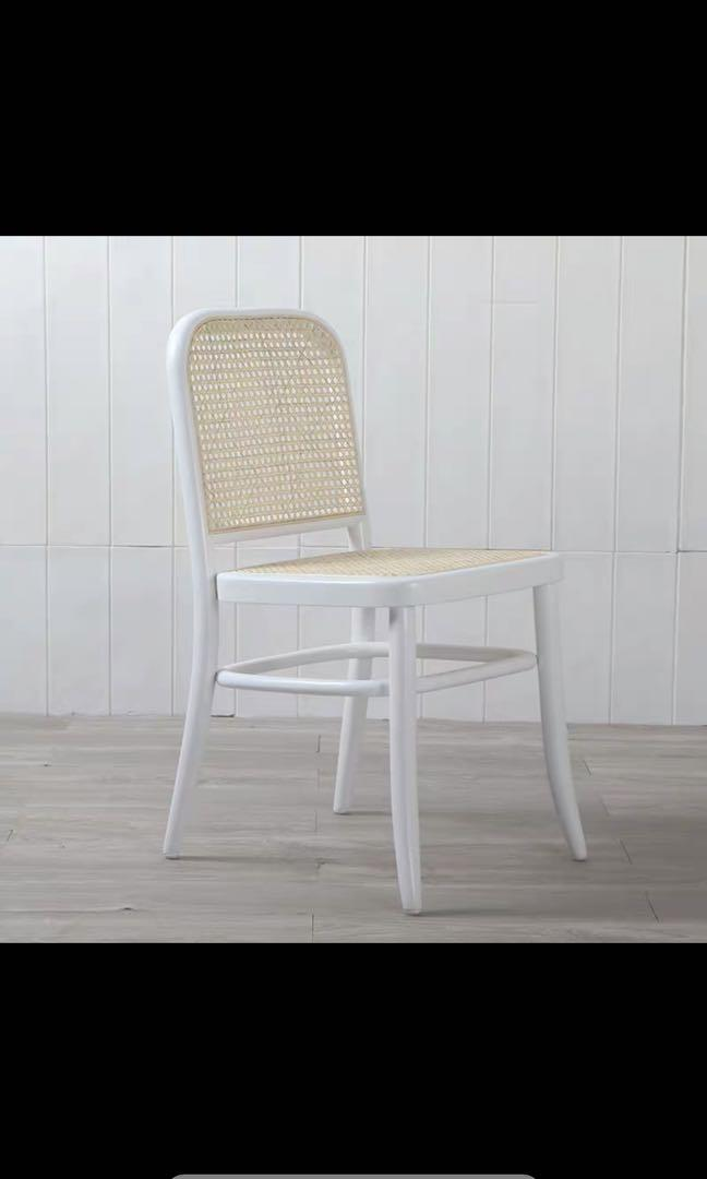 White Rattan Dining Chair Furniture, White Side Chair