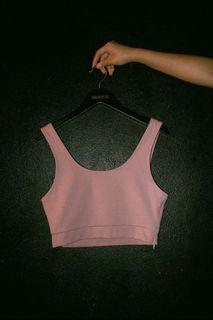 yhf two timer top in barely pink