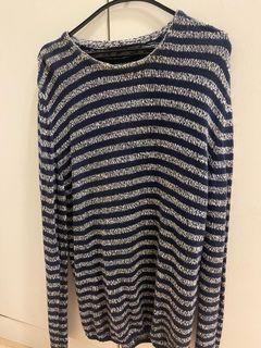 ZARA 藍紋針織厚毛衣