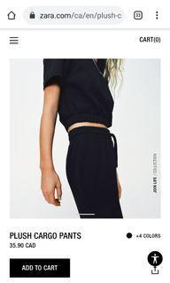 Zara black high waisted cargo pants