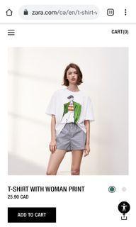 Zara graphic t shirt