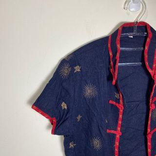 175.古著💁♂️魔鬼藏在細節裡中國結短袖上衣
