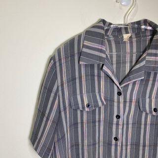 181.古著💁♂️身為一道彩虹短袖襯衫